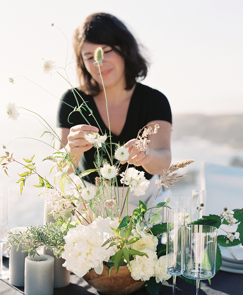 The Floral Pantry floral design workshop with Alicia Rico of Bows and Arrows Flowers
