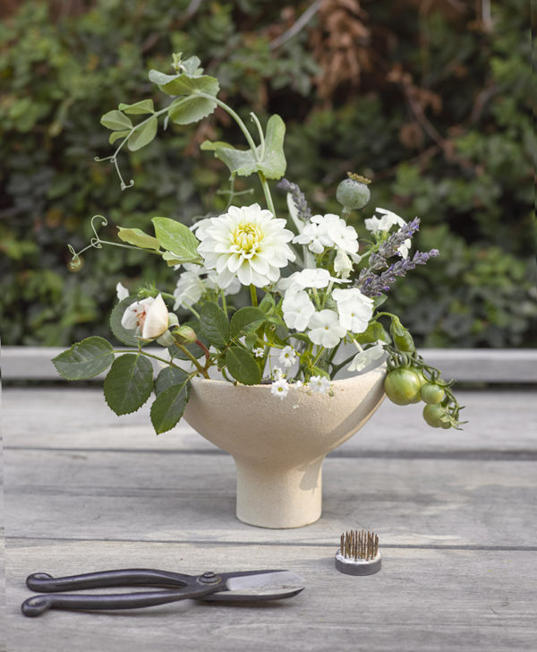 The Floral Pantry - Garden to Vase cream ceramic flower bowl
