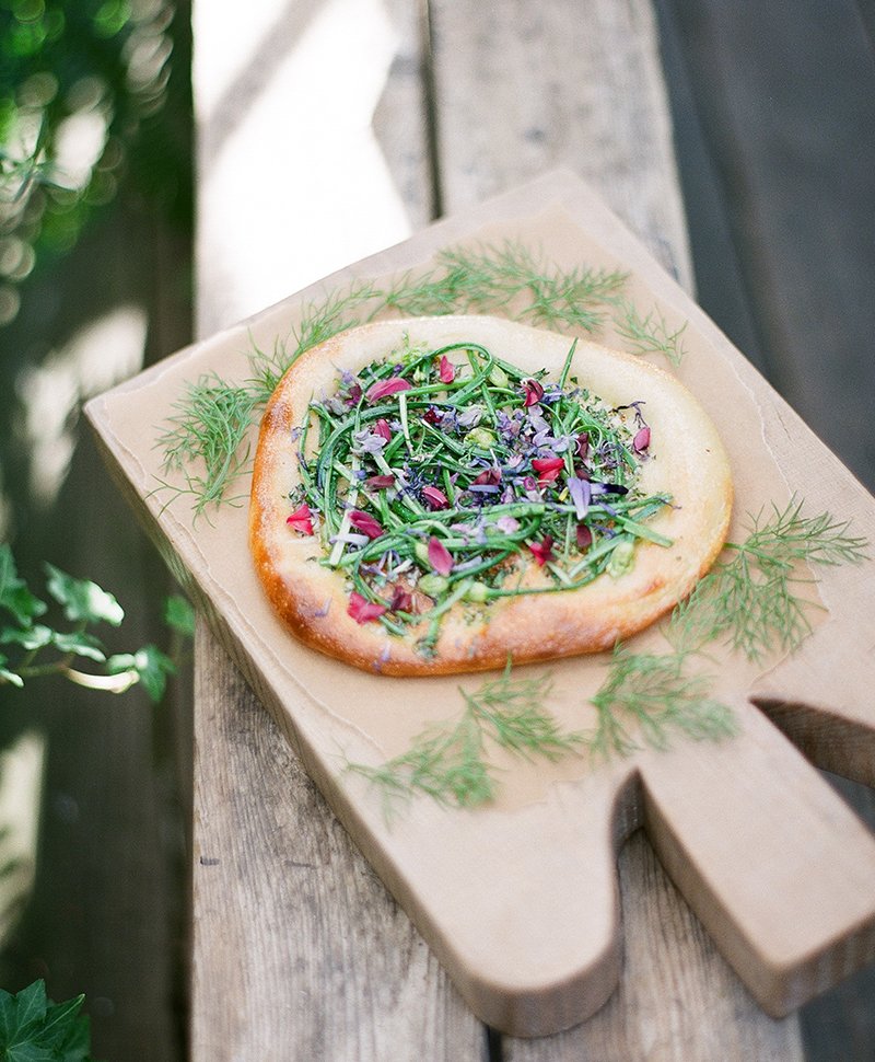 floral pantry chive blossom flatbread