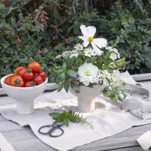 floral pantry cream ceramic flower bowl